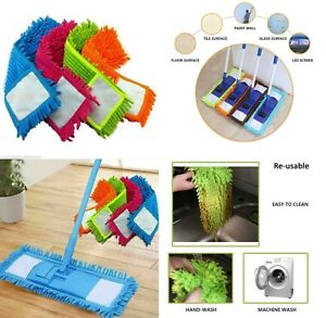 Reusable / Washable Microfiber Mop Head Refill Replacement Cloth Cleaning Pad
