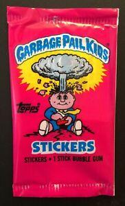 UK Garbage Pail Kids Series 1 (1985) RARE Sealed Sticker Pack ~ Vintage ~ Topps