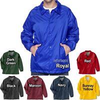 BIG MENS Wind Breaker Staff Nylon Snap Front Coaches Jacket 2XL, 3XL, 4XL NEW