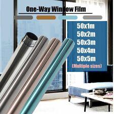 1/2/3/4M Film Miroir Solaire réfléchissant UV Protection Pr fenêtre Verre Vitre