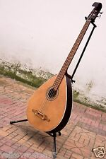 TREMBITA acoustic 4 string Bass Lute guitar made in Ukraine Natural Kobza, VIDEO