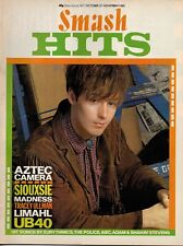Roddy Frame of Aztec Camera on Smash Hits Magazine Cover 1983   Limahl   Marilyn