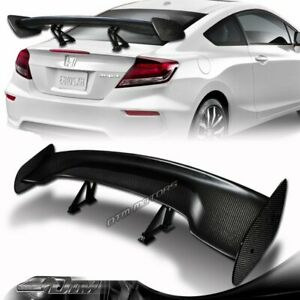 """57"""" Real Carbon Fiber Adjustable Rear Trunk GT Style Spoiler Wing Universal"""