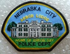Patch Nebraska Arbor Lodge US Police Department Patch (95 mm X 126 mm New*)
