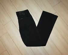 Womens HARLEY DAVIDSON Bootcut Jeans Black Denim Size 6 x 31.5 Inseam