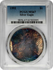 1992 $1 Silver 1oz American Eagle PCGS MS 67