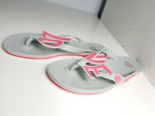 8b8c39585798e MEL MELLISA SIZE UK 5 38 DESIGNER WOMEN NEON PINK GREY GEL SUMMER FLAT  SANDALS
