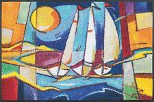 wash+dry Fußmatte Sailing home 50 x 75 cm waschbare Maritimer Türvorleger
