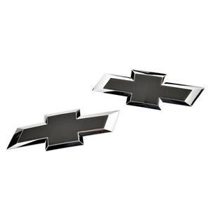2019-2021 Chevrolet Blazer Front & Rear Black Bowtie Emblem Kit 84188542 OEM GM