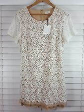 WITCHERY sz 16 womens  cap sleeves Lace Dress NEW + TAGS