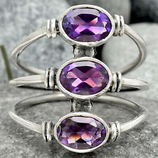 Amethyst - Africa 925 Sterling Silver Handmade Ring Jewelry s.7.5 SDR67701