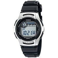 Casio Men's W213-1AVCF Basic Black Silver Digital Sport Watch Water Resist Resin