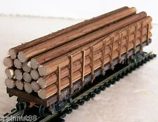 "HO Very Nicely  Detailed-  17 Pc- 1/4"" R x 5-3/4"" L  Real Wood Logs For Flat Car"
