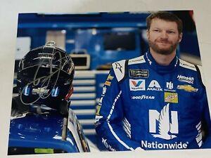 Dale Earnhardt Jr autographed PIT SHOT NASCAR NATIONWIDE HALL OF FAMER photo