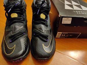Nike Air LeBron 13 XIII Lakers Hyperposite Kyrie KD PG Freak Supreme Sz 9.5