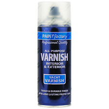 1 x 400ml All Purpose Clear Yacht Varnish Gloss Aerosol Spray Paint Household