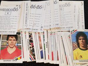 Panini Mexico 86 Stickers - Complete Your Album  Nos 5-250