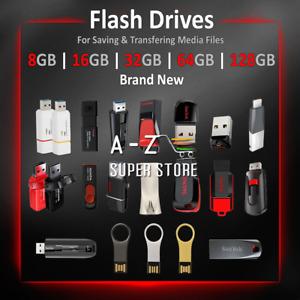 Memory Flash Drive 8 16 32 64 128 GB Thumb Stick Fast Ultra lot USB 2 / 3.1 NEW