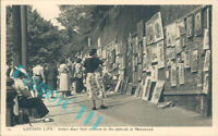 london Life Artists Show pictures outdoors At Hampstead Charles Skilton Card