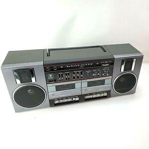 VTG GE Boom Box AM FM Radio Cassette Model 3-5682a Detachable Speakers Blasters