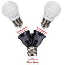 New E27 to Double E27 LED Light Lamp Bulb Base Socket Extender Adapter Converter
