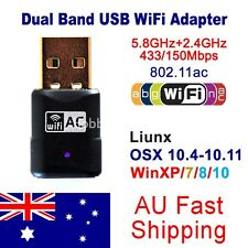 AC600 Dual Band 2.4G/5GHz Wireless USB WiFi Adapter 600Mbps 433/150Mbps 802.11ac