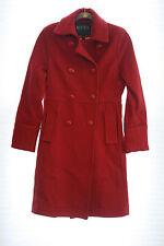Sarah Jessica Parker Bitten Red Long Wool Coat Button Down