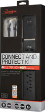 Rocketfish- 7-Outlet/2-USB Surge Protector with 8' 4K UltraHD, In-Wall Cert...