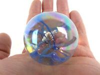 """TOE BREAKER 50mm (2"""") BLUE SPAGHETTI Wire Pull Confetti Marbles glass ball HUGE"""