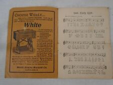Our National Songs Advertising Booklet by White Sewing Machines America & More