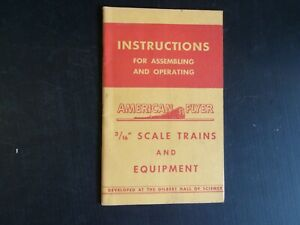 Instructions for Assembling/Operating, 1947, Clean & Complete (D14)