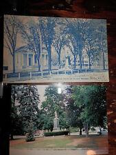 OXBRIDGE MA - CIVIL WAR - SOLDIERS' MONUMENT - OLD Postcard plus MODERN PHOTO