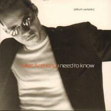 Marc Anthony(CD Album)I Need To Know Sampler-New
