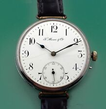 Giant Moser & Co  Antique Wrist Watch Porcelain Dial in Working condition