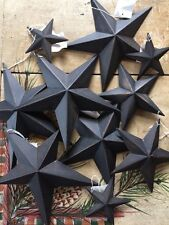 "Set of 96 ~ Black Barn Stars 3.5"",5.5, 8, 12"" CRAFT SUPPLIES ~SLIGHT NICK/SCUFF"