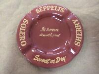 #CC10.  SEPPELTS SOLERO SHERRY METAL ASHTRAY
