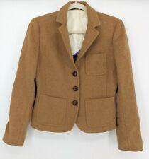 J Crew Women's Wool Blazer Jacket Size 6 Lined 3 Button Brown