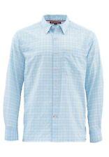 Simms Morada Long Sleeve Shirt Light Blue Plaid- Size 2XL -CLOSEOUT