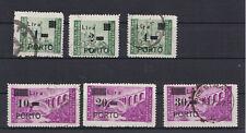 Istria 1946 Segntasse 8-13 soprastampati porto usati