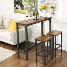 VASAGLE Table Haute Fine, Table de Bar, Table de Cuisine, Vintage LBT12X