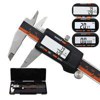 6 Inch Digital Vernier Caliper 150mm Stainless Steel Micrometer Electronic Tool Ebay