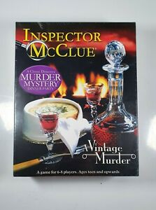 Inspector McClue: A Vintage Murder, Party Dinner Mystery Crime Game, New Sealed