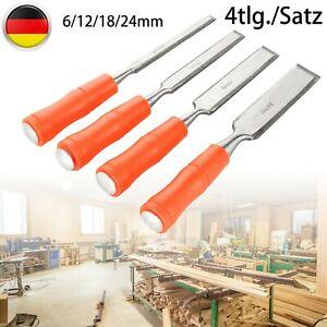 4X Stechbeitel Kirschen Stechbeiter/Stemmeisen 6-24mm/Stecheisen Weißbucheheft