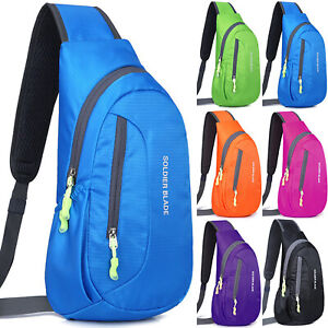 Damen Herren Crossbody Sling Bag Schultertasche Brusttasche Rucksack Sporttasche