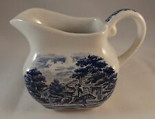 LIBERTY Blue brocca latte panna Staffordshire Paul Revere