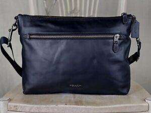 COACH F72511 Men's Large Graham Soft leather Shoulder Handbag Crossbody $450