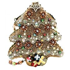 Mary Frances Handbag Sugar Plum Christmas Tree Holiday Beaded Jewel Shoulder Bag