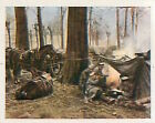 Soldiers German Resting troops Poland Deutsches Heer WWI WELTKRIEG 14/18 CHROMO