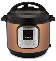 Instant Pot Pressure Cooker Copper Stainless 6 Qt 7 in 1 Multi Use, Slow & Rice