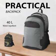 vidaXL School Backpack 40 L Rucksack Bag Black and Camouflage/Black and Grey
